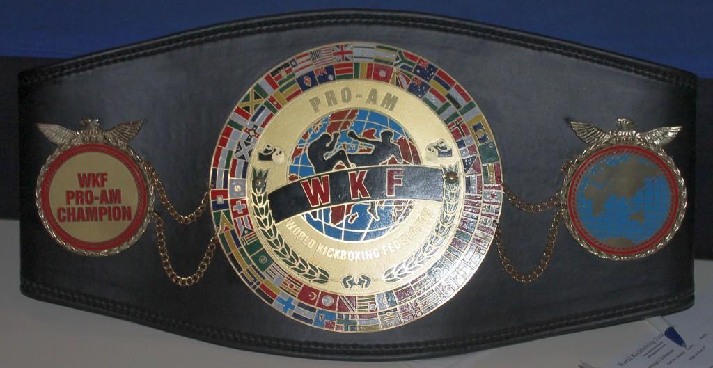 WKF PRO AM title belt